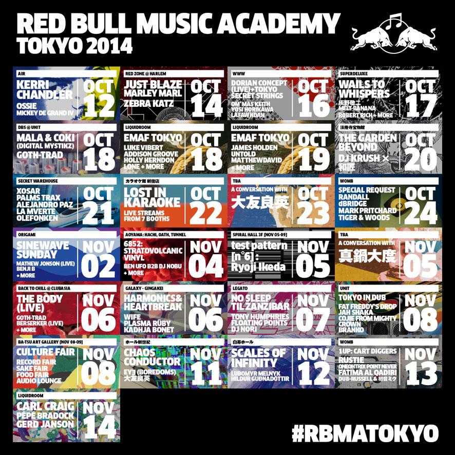 マーラ&コーキ、 ラスティ、OPNら出演! <Red Bull Music Academy Tokyo 2014>豪華プログラム追加発表 music140820_rbma_sub2