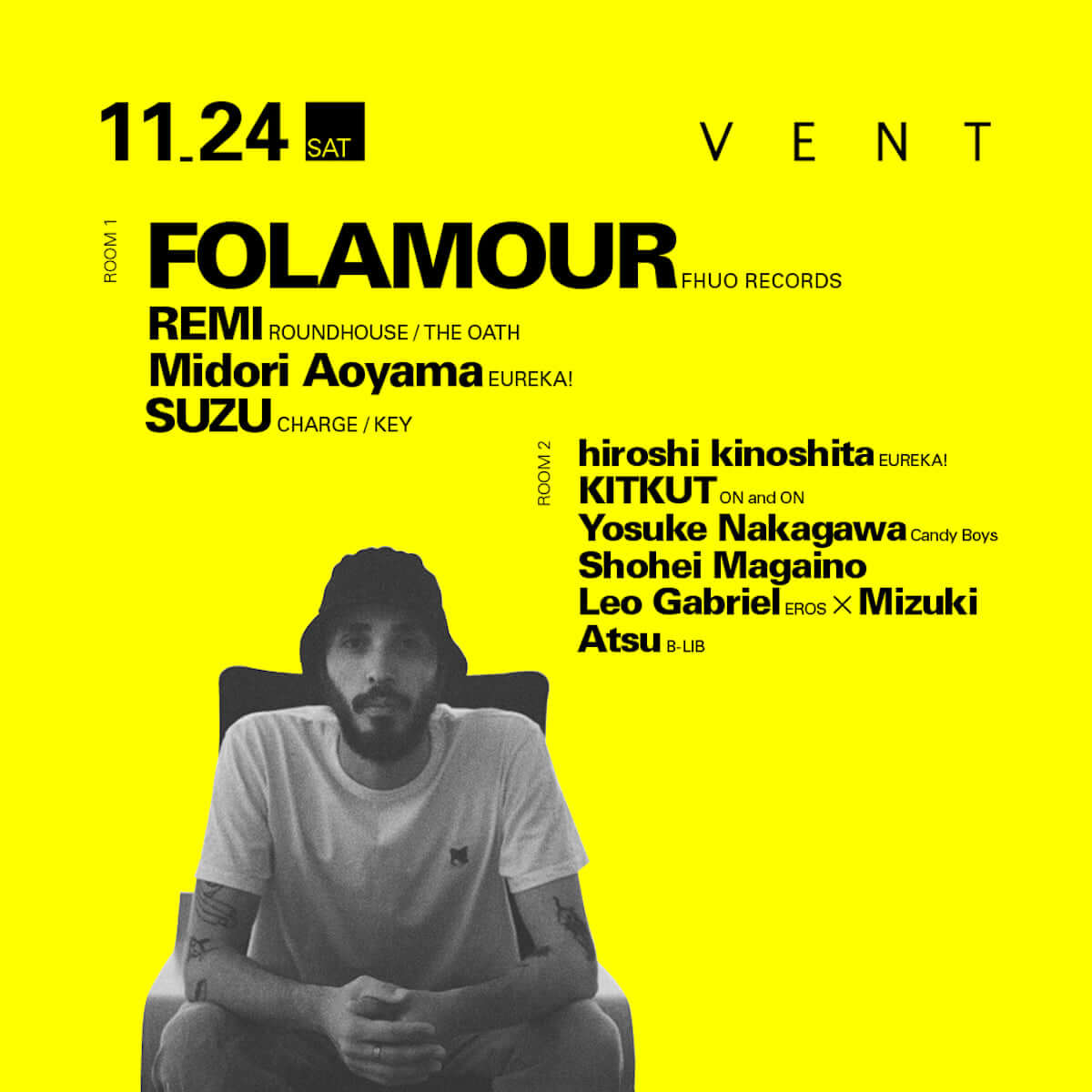 ジャズやソウルのエッセンスをディープ・ハウス・シーンに昇華する世紀の奇才DJプロデューサーFolamourがVENTに登場 music1107-vent-folamour-3-1200x1200