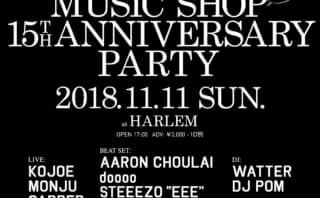 JAZZY SPORT MUSIC SHOP TOKYO 15th Anniversary