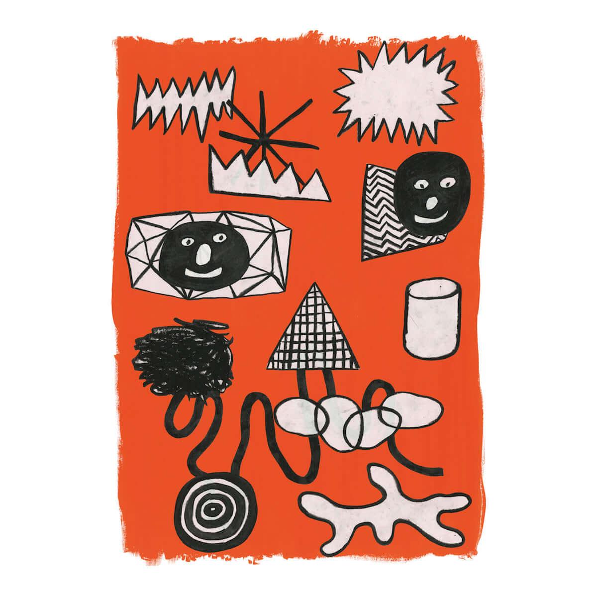 注目のイラストレーター・北田正太郎による個展が12月にANAGRAにて開催 art-culture181115-anagra-kitadashotaro-lines-and-colors-on-papers-11-1200x1200
