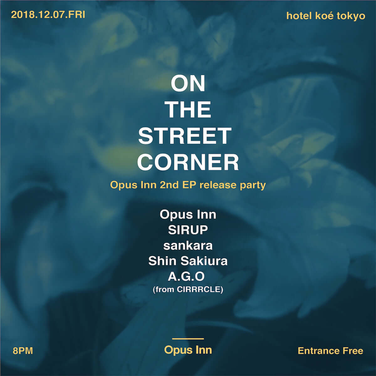 Opus InnがSIRUPをフィーチャーした楽曲「Feel It」のMVを公開 12月にはhotel koé tokyoにてリリパも開催 music181115-opusinn-3-1200x1200