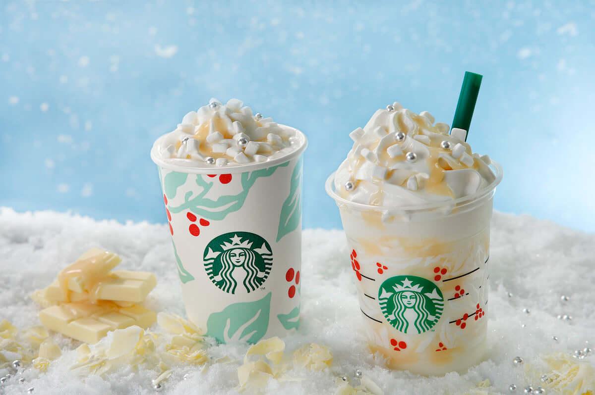 スタバ新作フラペチーノ「ホワイト チョコレート スノー フラペチーノ」イメージはホワイトクリスマス! food181116_starbucks_01-1200x798