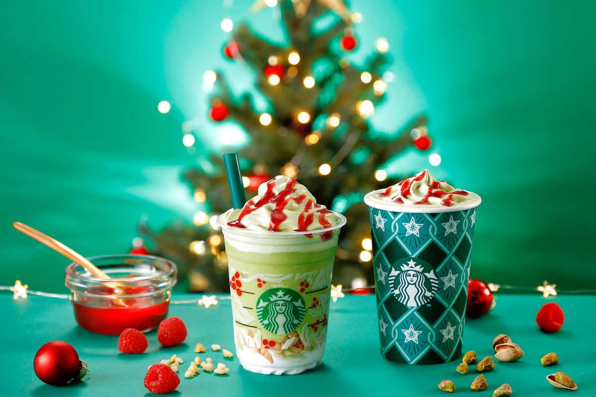 スタバ新作『ピスタチオ クリスマス ツリー フラペチーノ』ホリデーシーズン限定ビバレッジ第3弾はクリスマスツリーがイメージ! food181129_starbucks_01-1200x799