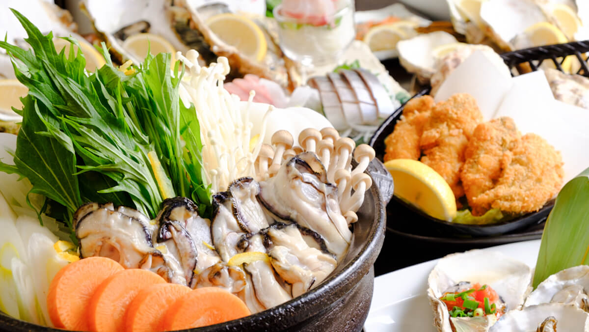 牡蠣好きのための「牡蠣尽くしコース」で牡蠣鍋!牡蠣の湯引き!お刺身!カキフライ! gourmet181214-oyster-1