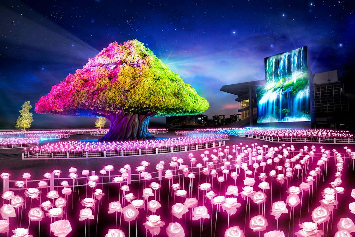 「TOKYO MEGA ILLUMINATION」リニューアルオープン!関東最大級のイルミネーションを体験 MEGA-TREE-GARDEN-1200x801