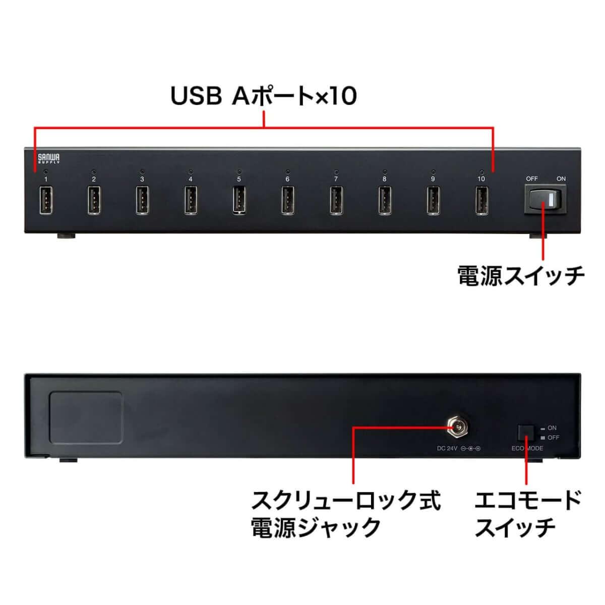 USB機器を10台同時に充電できる充電器が登場。スマホもタブレットもなんでも充電OK 190128_charger_2-min-1200x1200
