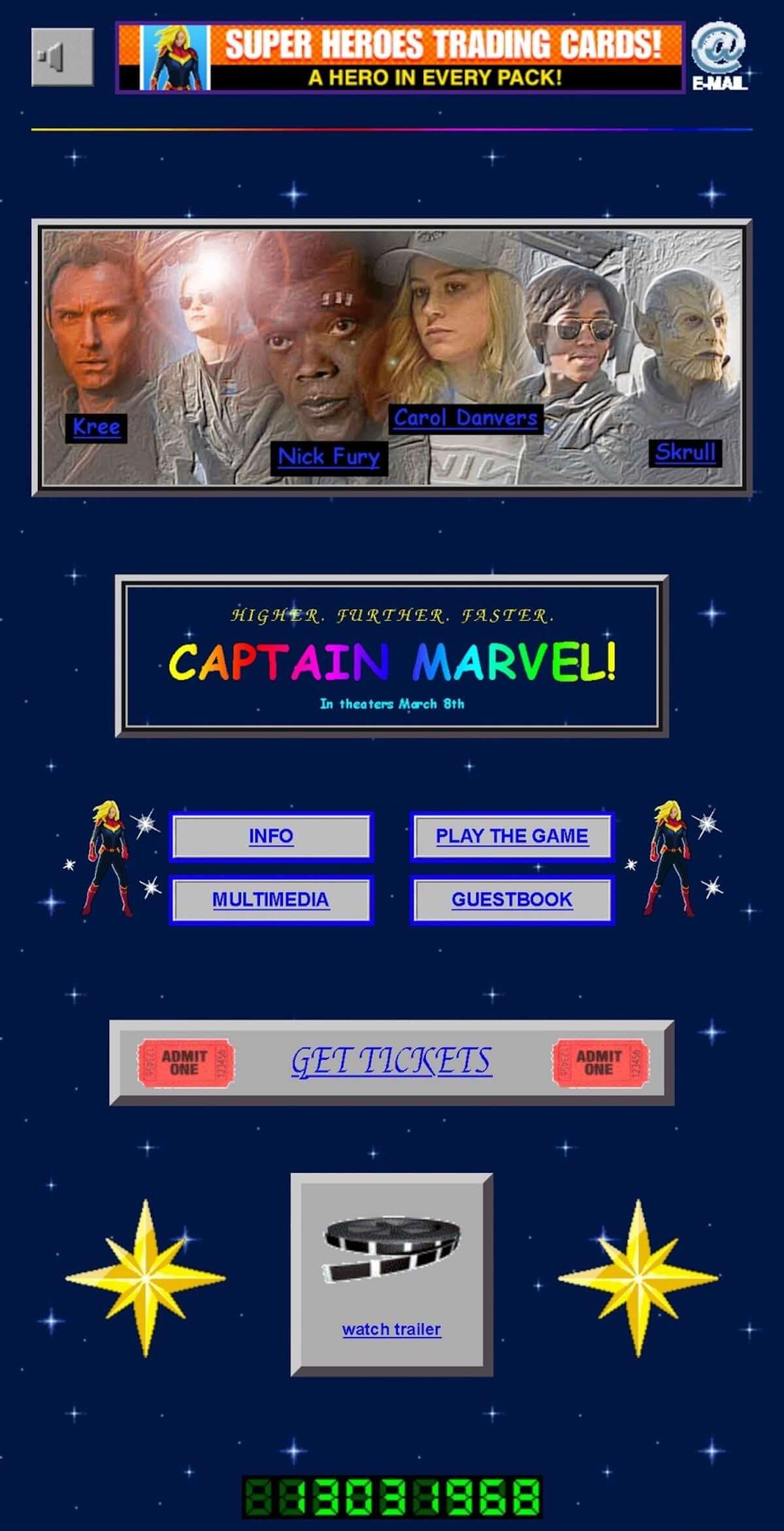 『キャプテン・マーベル』、映画の時代に合わせた激カワの90s風ウェブサイトがオープン 190210film-captain-marvel-2-1200x2342