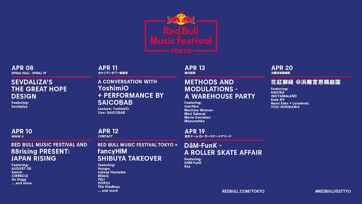Red Bull Music Festival Tokyo 2019の第1弾ラインナップが発表に Awich、AUGUST 08らアジアからも多数出演 music190225_redbull_1-1200x675