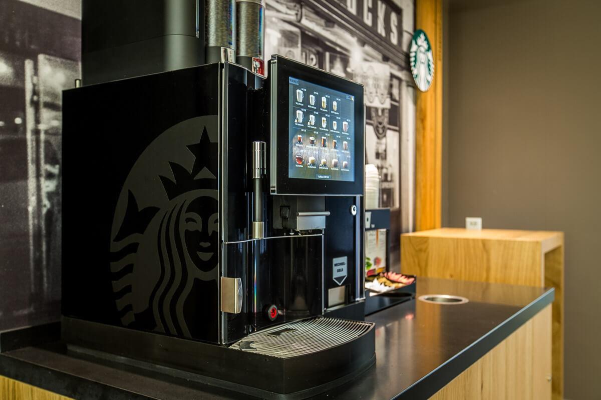We Proudly Serve Starbucks™