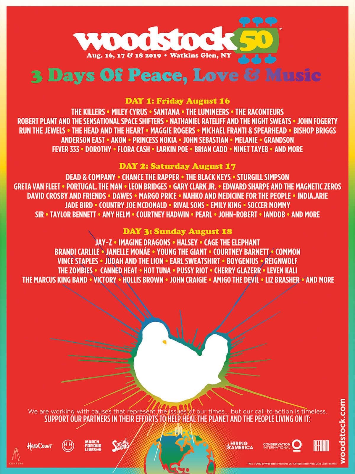 ラジオ番組『Tokyo Brilliantrips』連動!ウッドストック50周年記念フェス「Woodstock 50」などをご紹介 music190320-woodstock-1200x1599