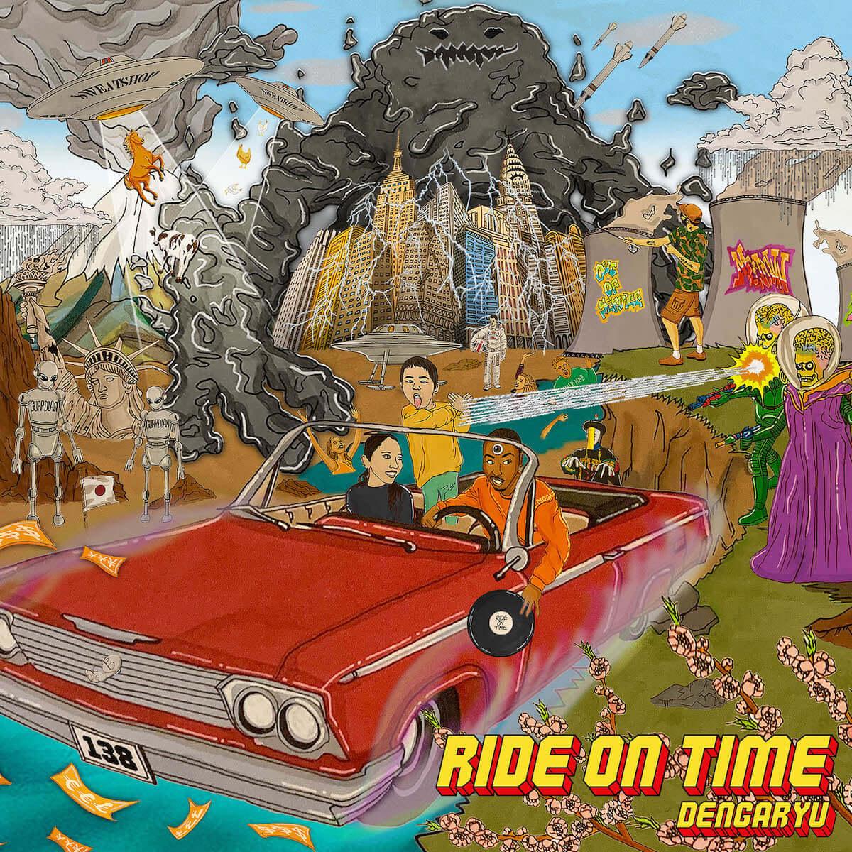 田我流がサード・アルバム『Ride On Time』を4月24日にリリース|プロデュースにVaVa、EVISBEATSらが参加 music190325_dengaryu_1-1200x1200