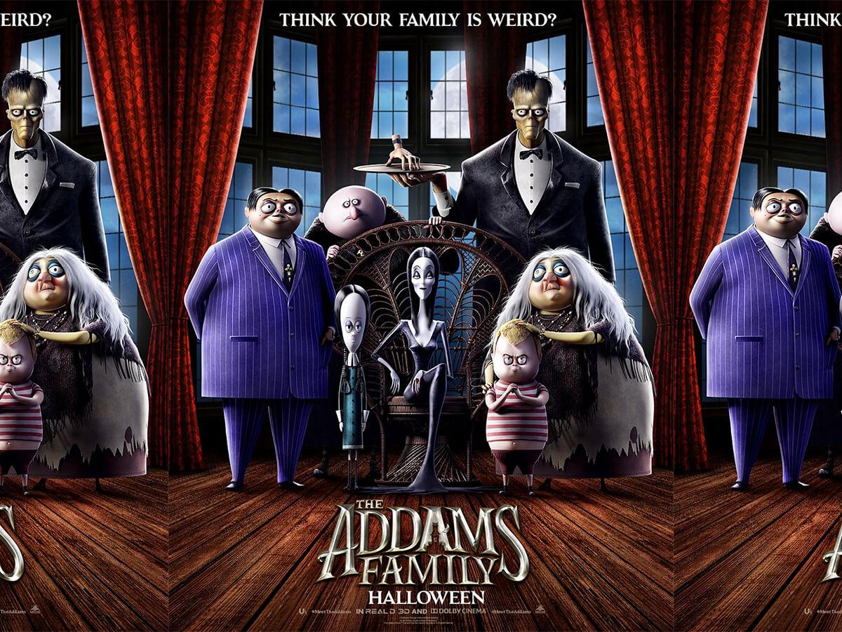 アニメ版『アダムス・ファミリー』のポスターが解禁!クロエ・グレース・モレッツ、シャーリーズ・セロンが声優に