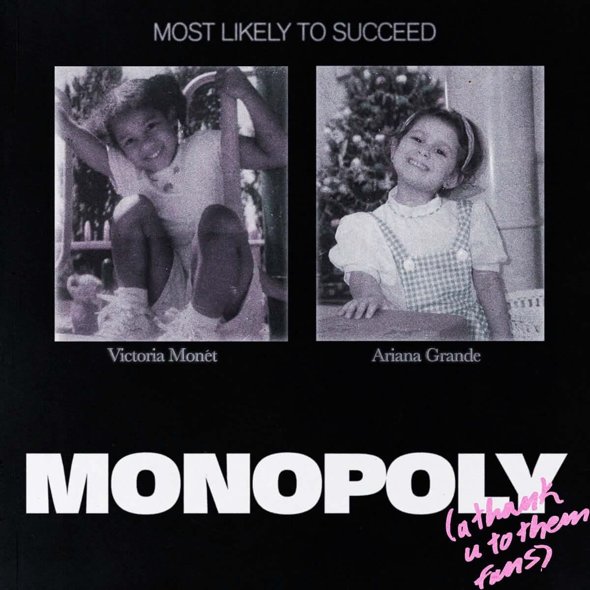 アリアナ・グランデ、親友との新曲「MONOPOLY」を緊急リリース!親友ヴィクトリア・モネとコラボ music190402_arianagrande_1-1200x1200