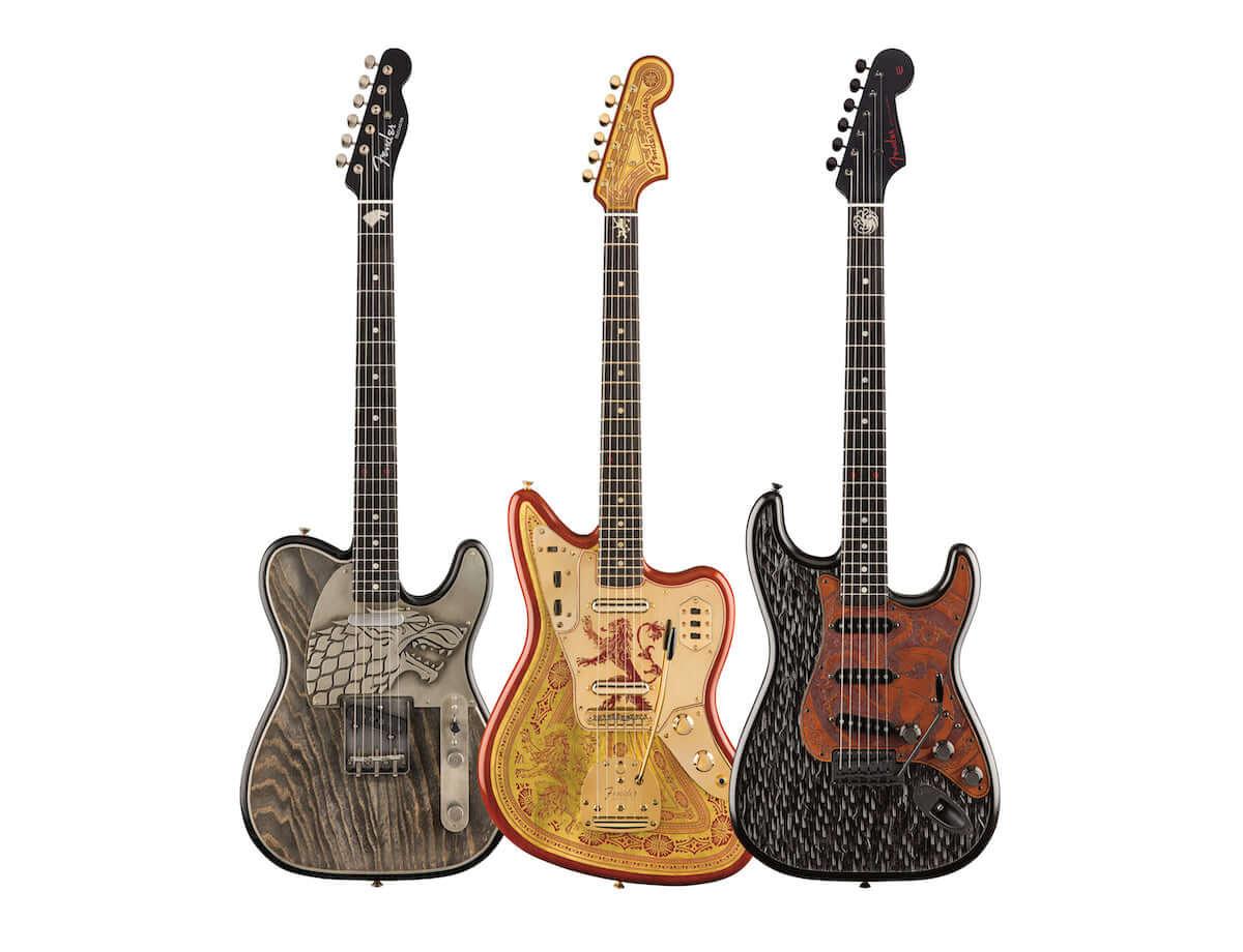 「ゲーム・オブ・スローンズ」の最終シーズン放送記念、フェンダーから豪華なギター3モデルを発表! lifefashion190417_fender_1-1200x920