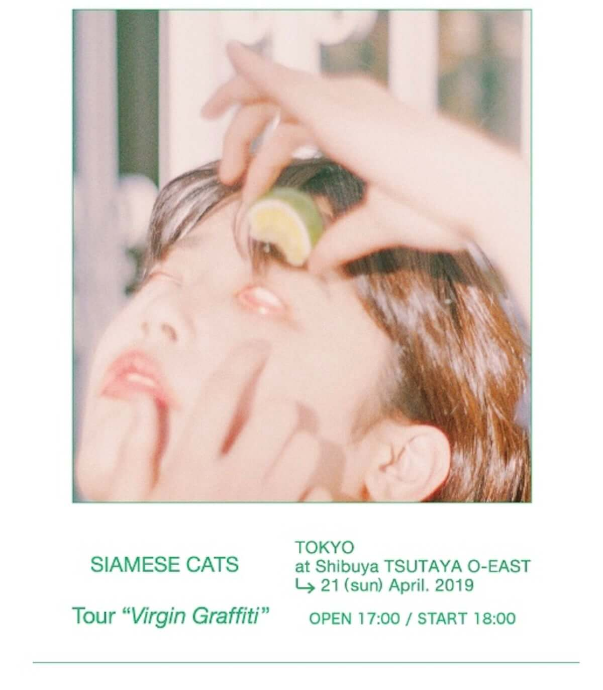 """4月21日渋谷O−EASTにてシャムキャッツ ツアー """"Virgin Graffiti""""東京公演開催! music190418_siamese-1200x1372"""