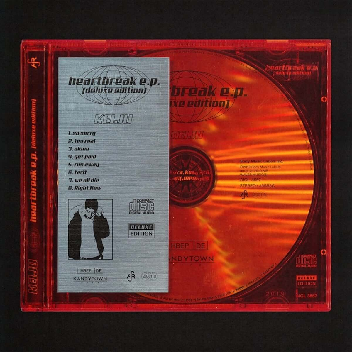 KEIJU、『heartbreak e.p.』に新曲を加えた完全生産限定盤を5月22日リリース|BAD HOPのYZERRらが新たに参加 music190422_keiju_2-1200x1200