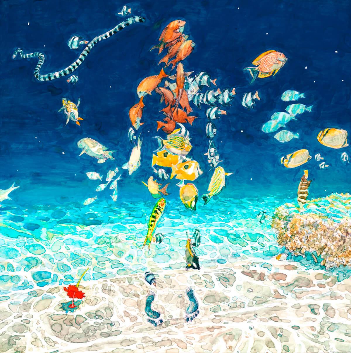 米津玄師、本日公開の「海の幽霊」全編アニメーションMVを実際の海の上で解禁!<海の上映会>開催 music190520_yonezukenshi_main