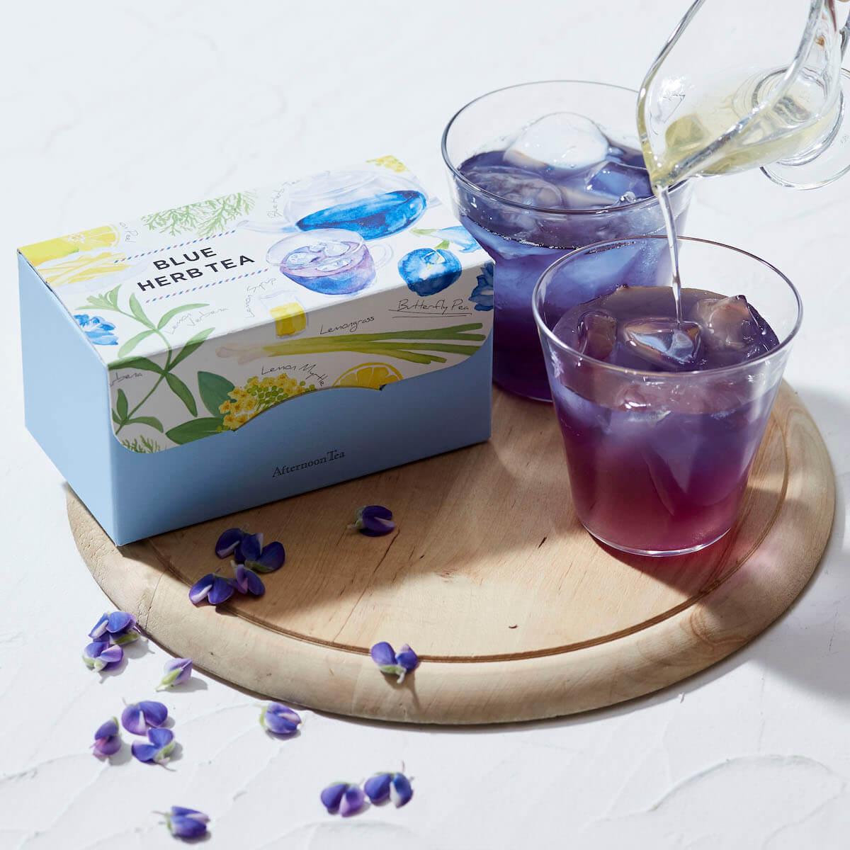 アフタヌーンティー・ティールームにて、ピンクとブルーのハーブティーセット2種を5月30日から数量限定で発売! gourmet190522afternoontea_1