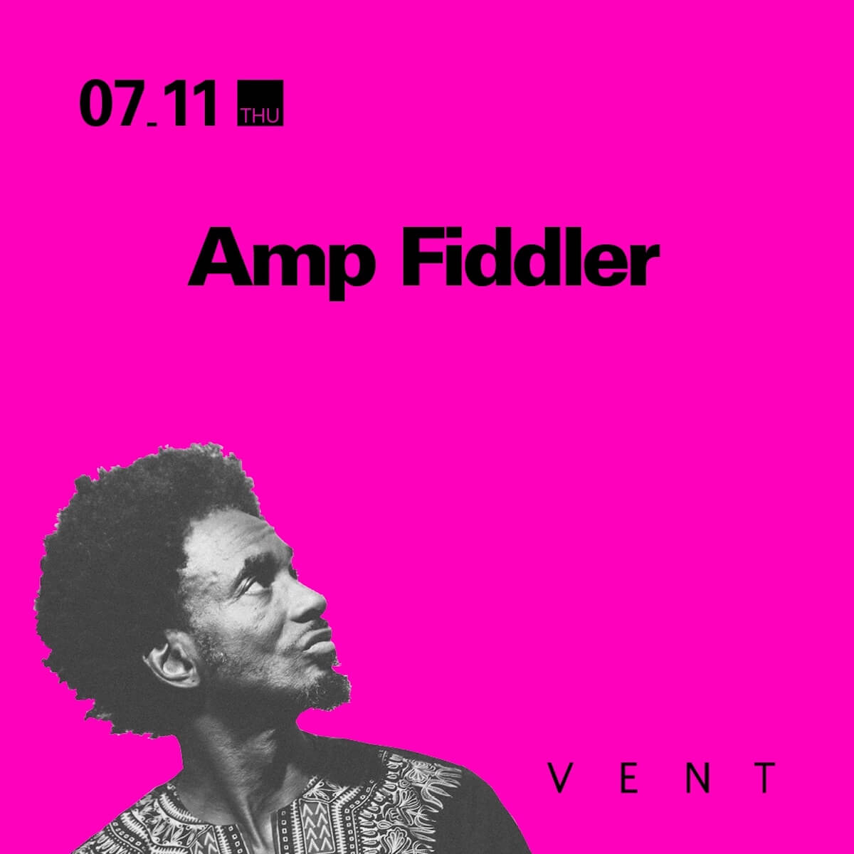 Prince、George Clinton、Theo ParrishからJ Dillaまで絶大な支持を集めるAmp Fiddlerの来日公演が開催決定 music190528-amp-fiddler-vent-3