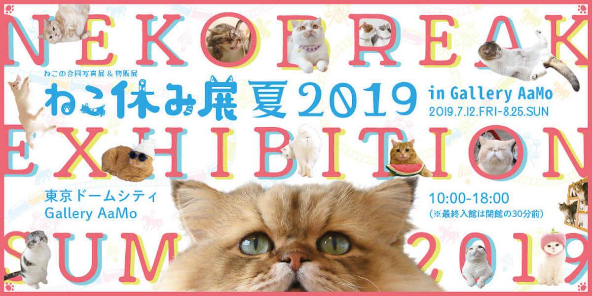 ラジオ番組『Tokyo Brilliantrips』連動!「ねこ休み展 夏 2019」などをご紹介! artculuture190605nekoyasumiten_