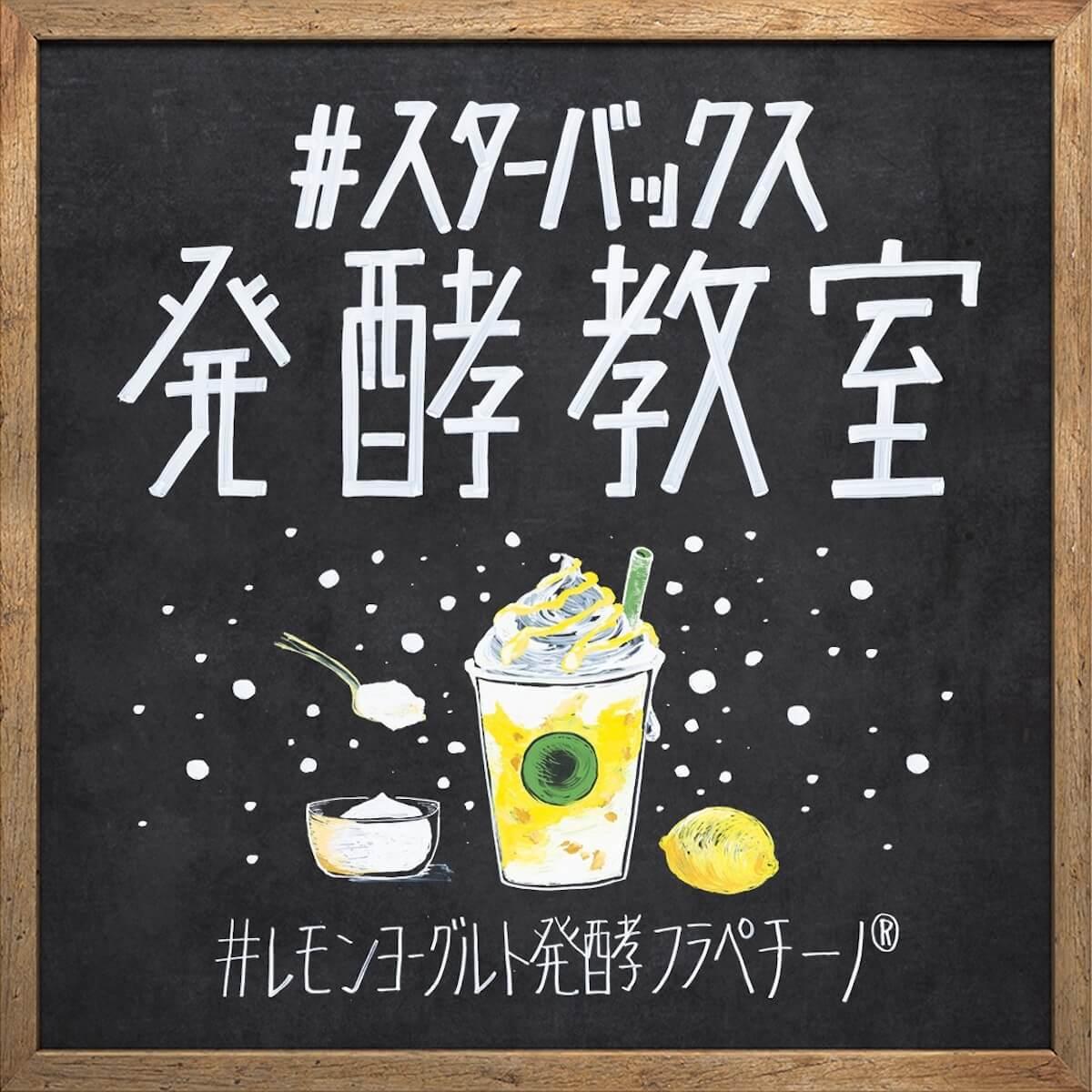 スターバックス初!3つの発酵素材を使用した「レモン ヨーグルト 発酵フラペチーノ」新登場 gourmet190612starbucks-hakkou-frappuccino_info