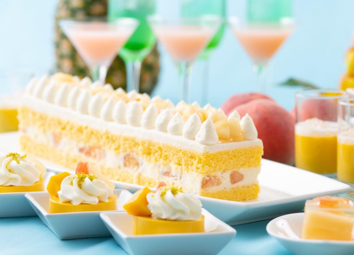 """マンゴー、桃など夏スイーツがたっぷり堪能できる""""夜のスイーツブッフェ""""毎週木曜夜に開催 gourmet190614tropical-summer-night_1"""
