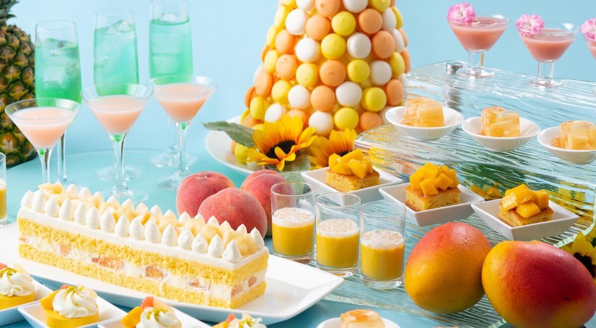 """マンゴー、桃など夏スイーツがたっぷり堪能できる""""夜のスイーツブッフェ""""毎週木曜夜に開催 gourmet190614tropical-summer-night_info"""