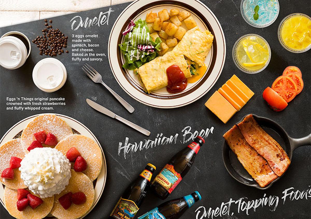 Eggs 'n Thingsに新メニュー!「白桃とヨーグルトソースのパンケーキ」が期間限定で登場 gourmet190618eggsnthings-pancake_3