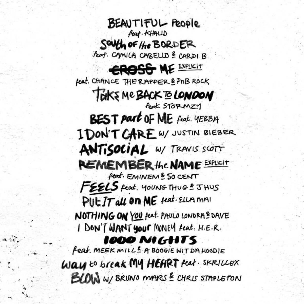 エド・シーランのコラボアルバムにカリード、トラヴィス・スコット、ストームジー、エミネムら超豪華アーティストが参加で話題 music190619_edsheeran_1