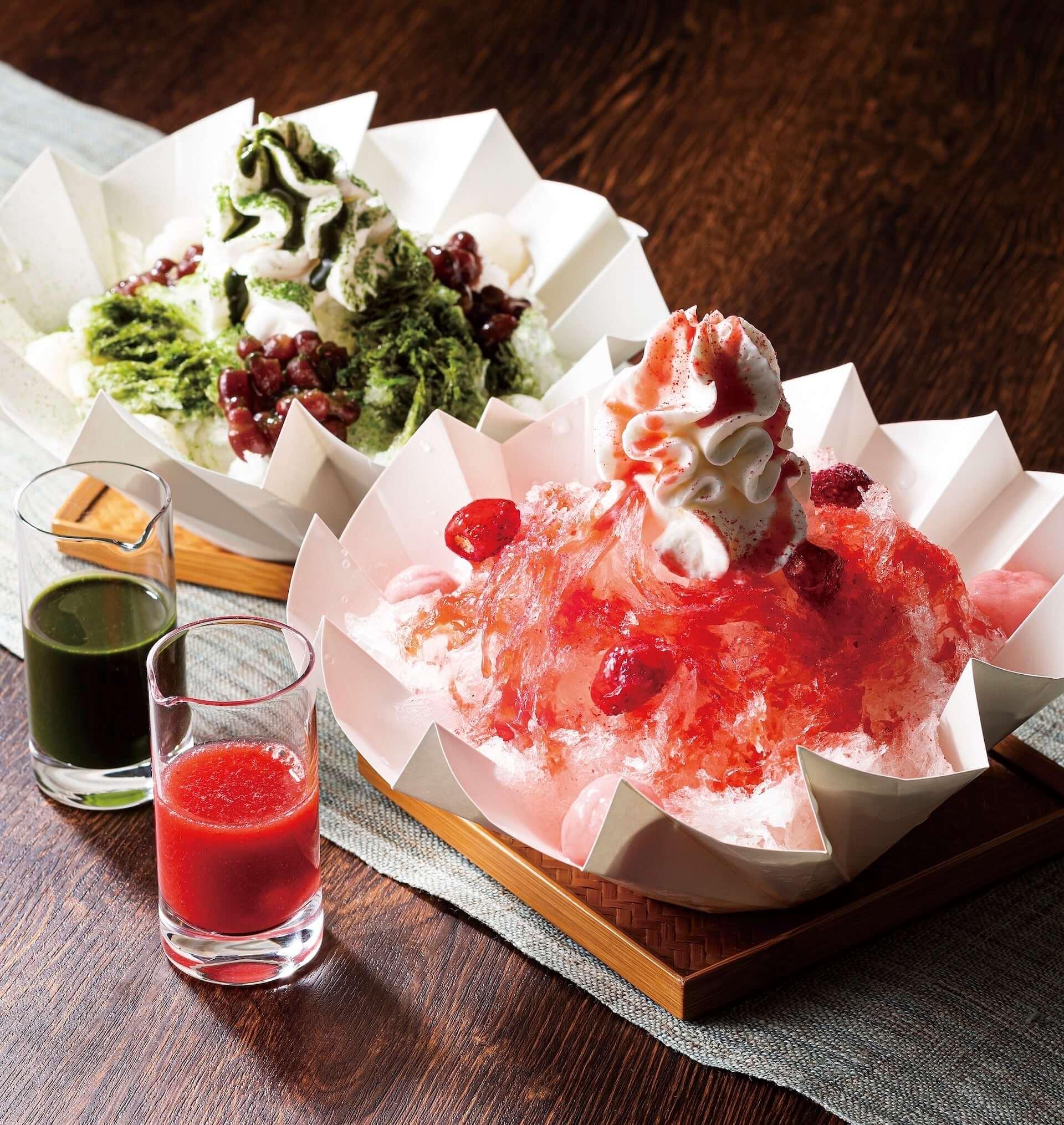 ヨックモック青山店に日本に7軒しかない氷職人の氷を使ったかき氷が登場!「苺」と「抹茶小豆」の2種類 gourmet190620yokumoku-kakigori_1-1920x2029