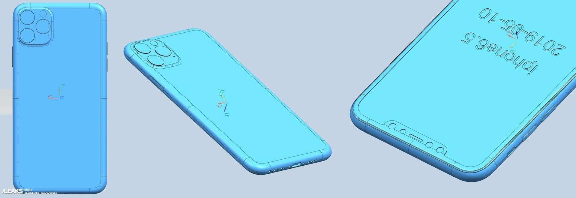 iPhone XIのCADレンダリング画像が公開|カメラはやはりトリプルカメラに? tech190702_iphone11_cad_2-1920x660