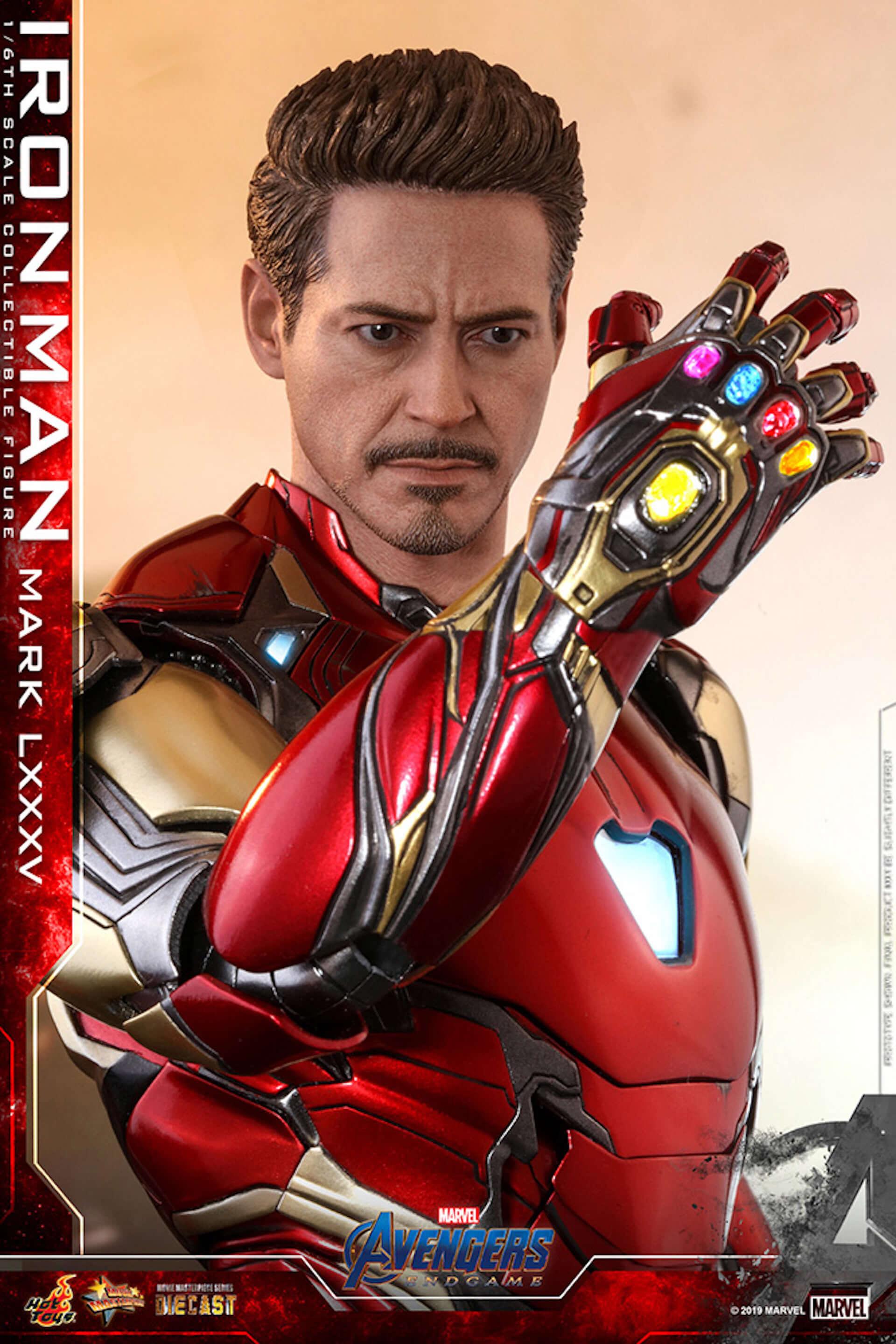 """""""私はアイアンマンだ""""『アベンジャーズ/エンドゲーム』アイアンマンの「ナノ・ガントレット」フィギュアが登場 art190703_avengers_endgame_hottoys_1-1920x2879"""