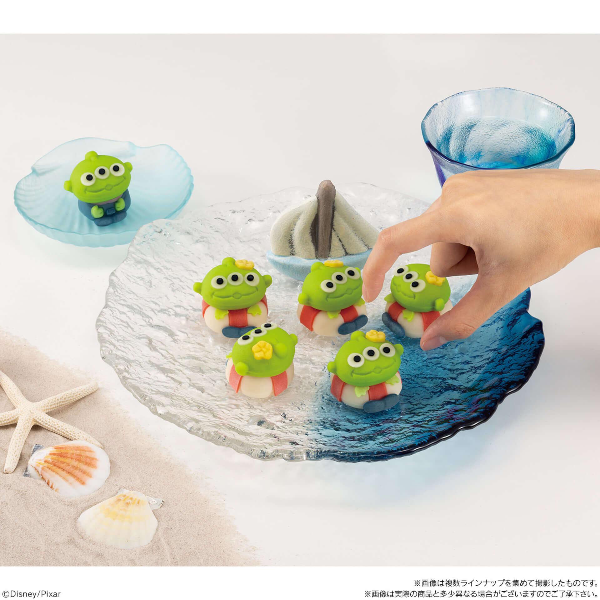 本日最新作が公開『トイストーリー』のエイリアンをモチーフにした可愛らしい和菓子が登場! gourmet190712_toystory_wagashi_3-1920x1920