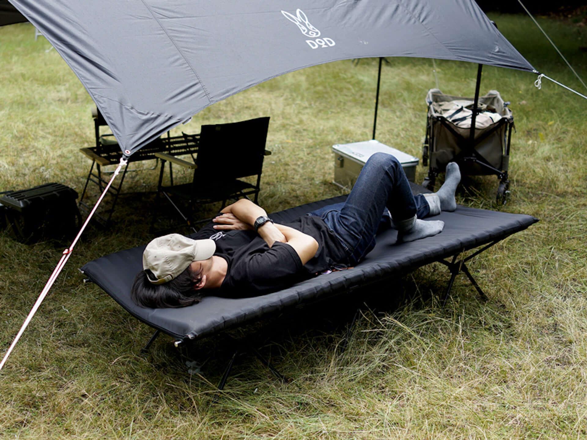 1台3役のキャンプ用ふかふかベッドが登場!男性でも快適な幅広設計なのにコンパクトで持ち運びに便利 lifefashion190723dod-camp-cot_1-1920x1440