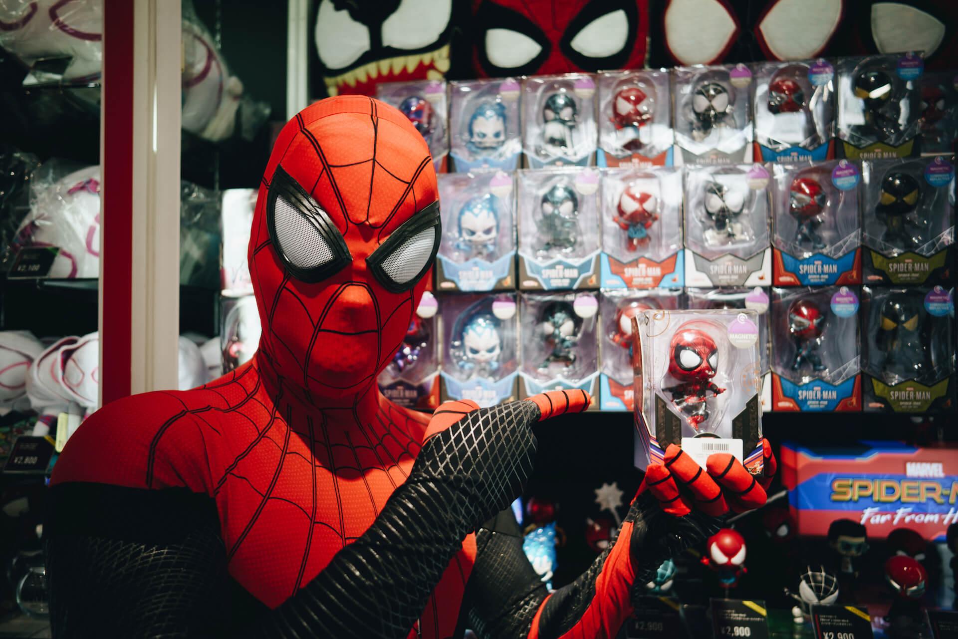 スパイダーマン好きなら目ギラギラ大興奮必至の期間限定ショップ探訪 art-culture-spiderman-store-report-13