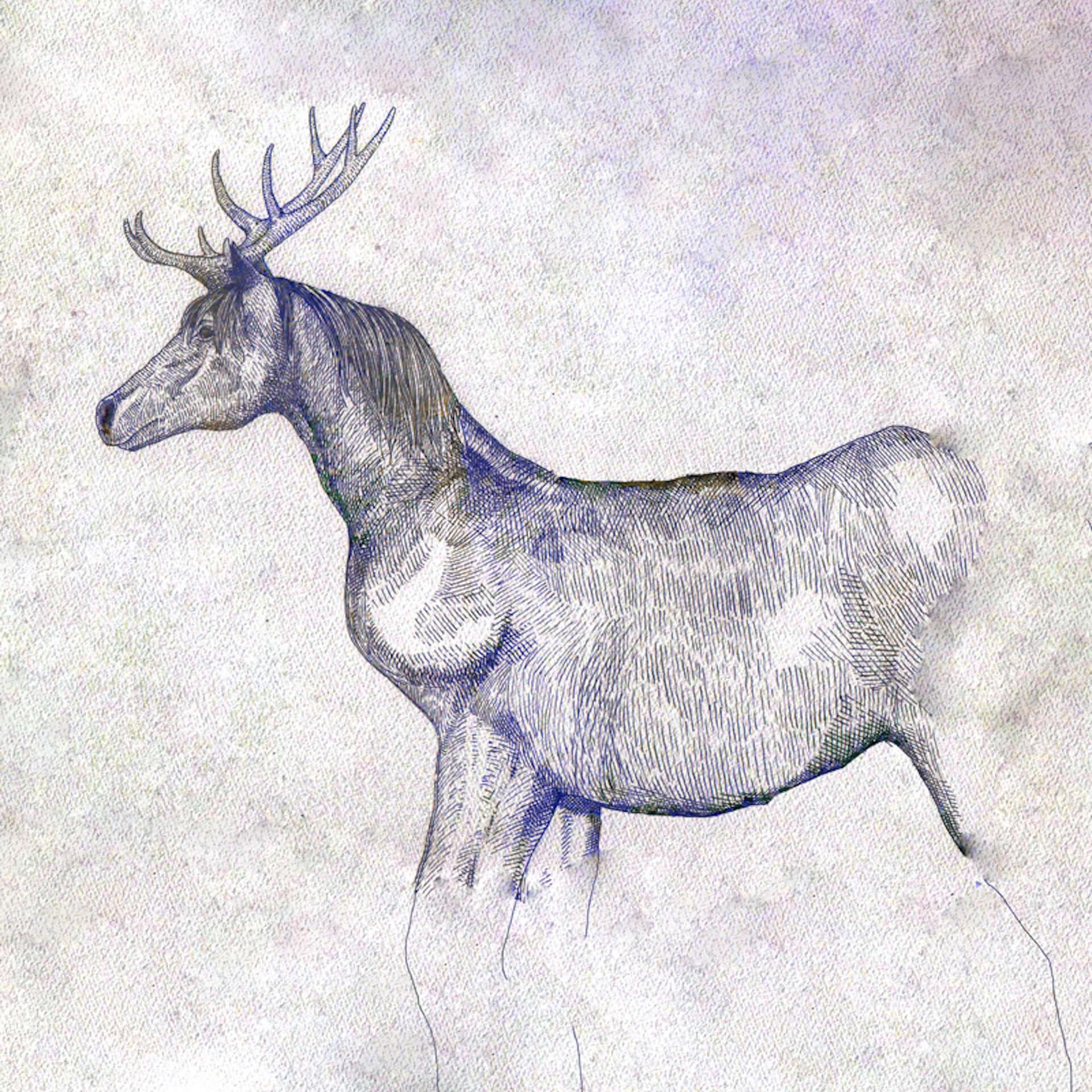 淡い水色髪の米津玄師、「馬と鹿」最新ビジュアル公開|最新シングルの全収録内容も発表 music190726yonezukenshi-umatoshika_3-1920x1920