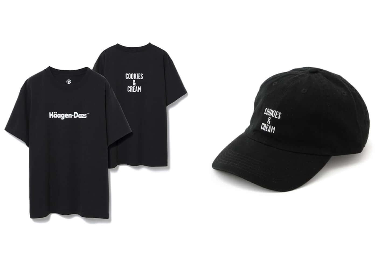 ハーゲンダッツがアダムエロペと異色のコラボ!別注Tシャツ、キャップが発売 black-1440x960