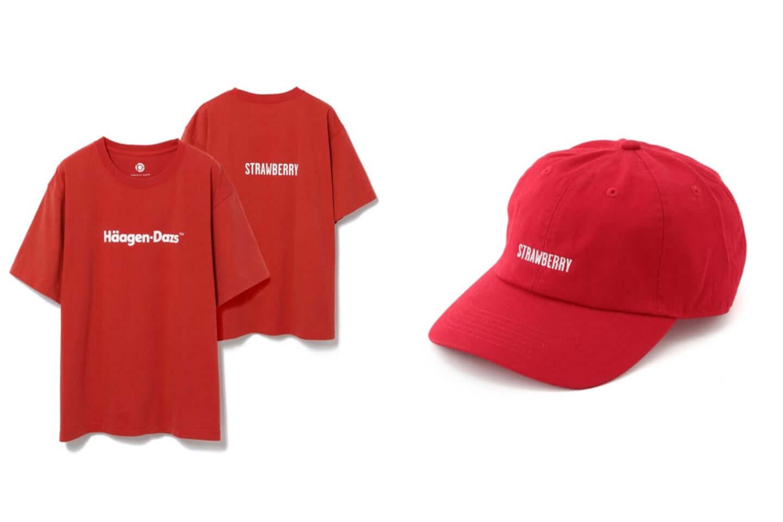 ハーゲンダッツがアダムエロペと異色のコラボ!別注Tシャツ、キャップが発売 red-1440x960
