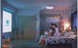 寝室で手軽にホームシアターを!世界初プロジェクター付きシーリングライト、動画配信サービス「U-NEXT」が追加