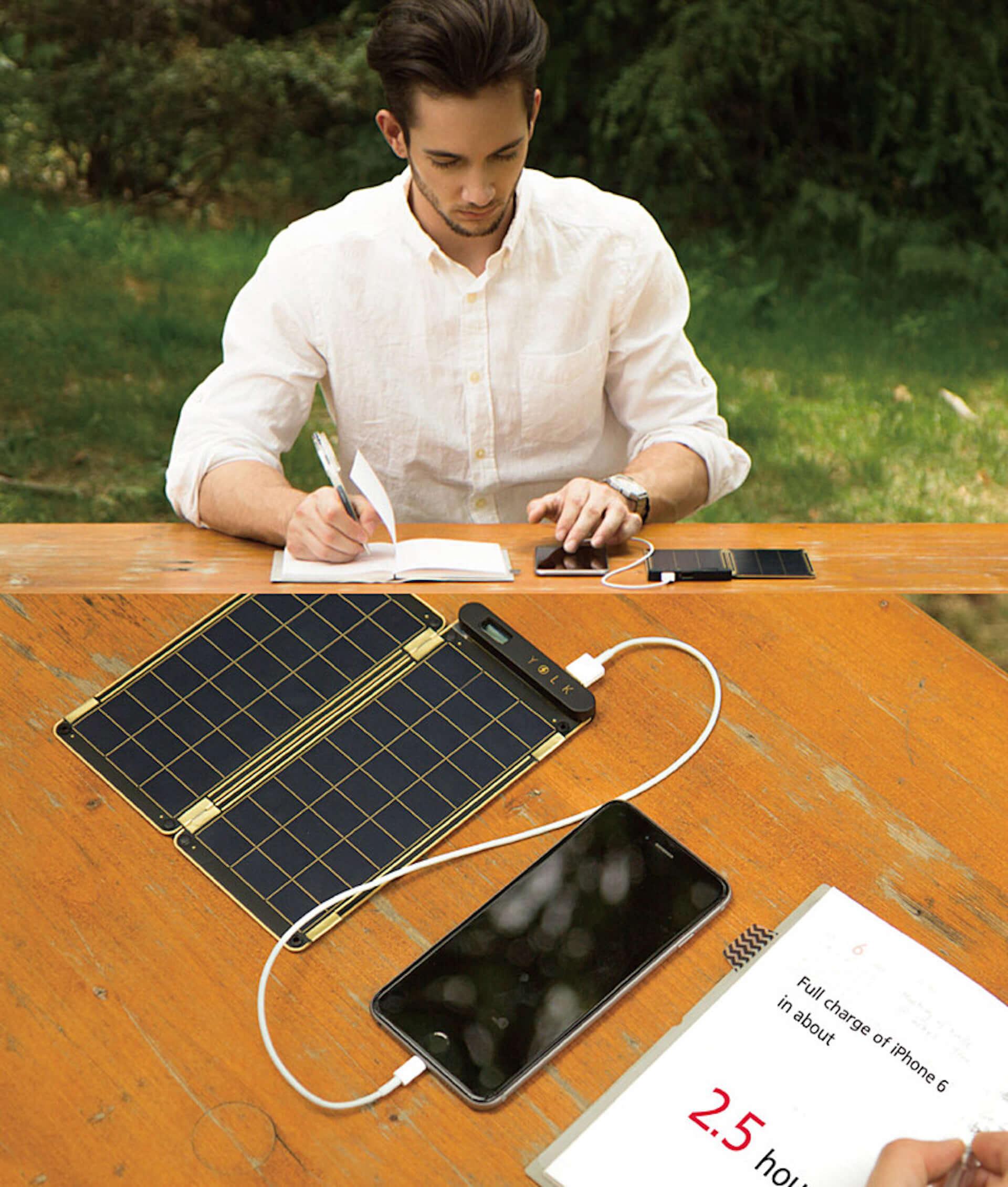 世界最薄・最軽量!家庭用コンセント同等の充電スピードを誇る、高性能ソーラーチャージャー「YOLK Solar Paper」が登場 technology190821yolk-solar-paper_3-1920x2261