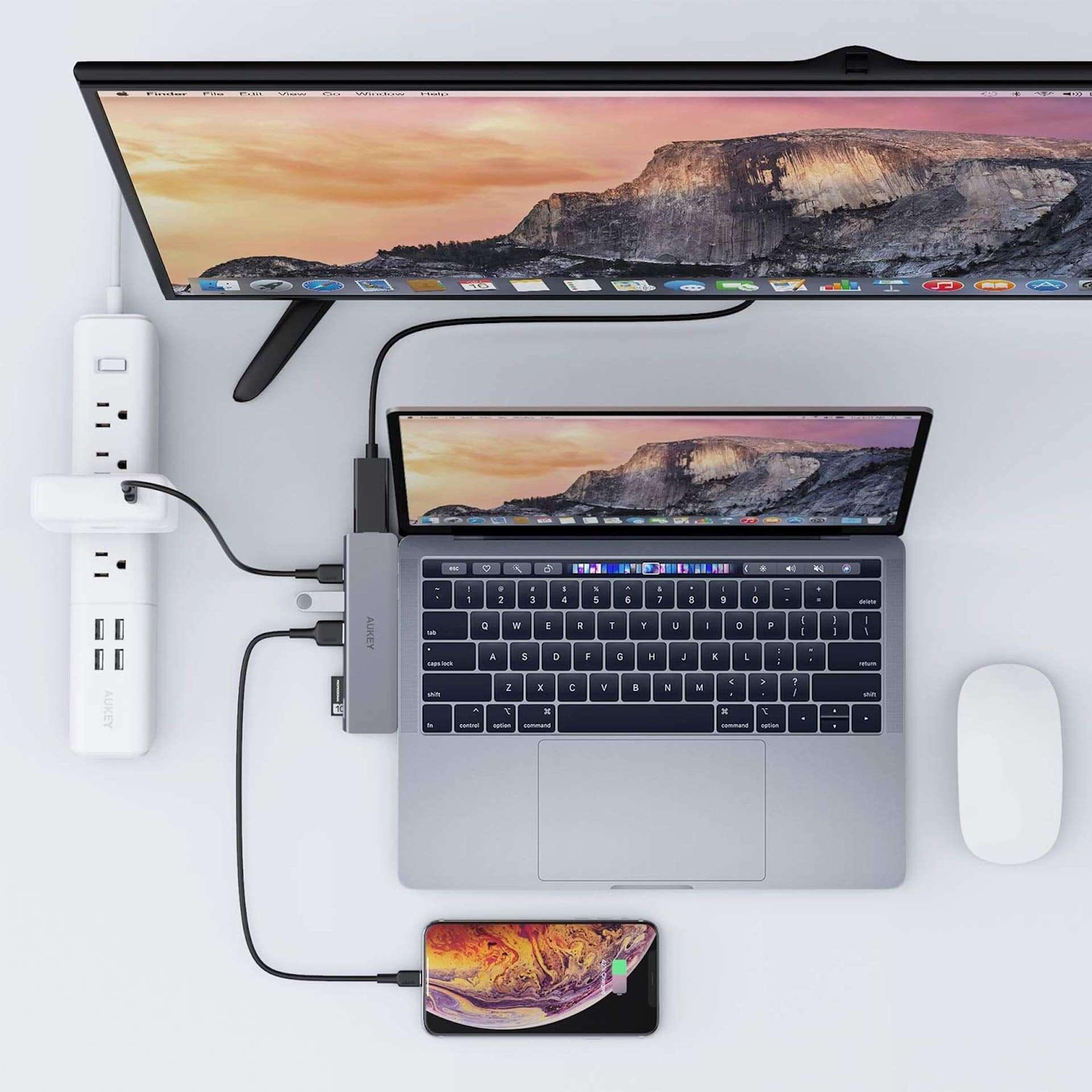USB 3.0ポート×2、HDMI&SDなど7つのポートが1つに!AUKEYマルチハブがお手頃価格で登場 tech190823aukey-multihub_3-1920x1920