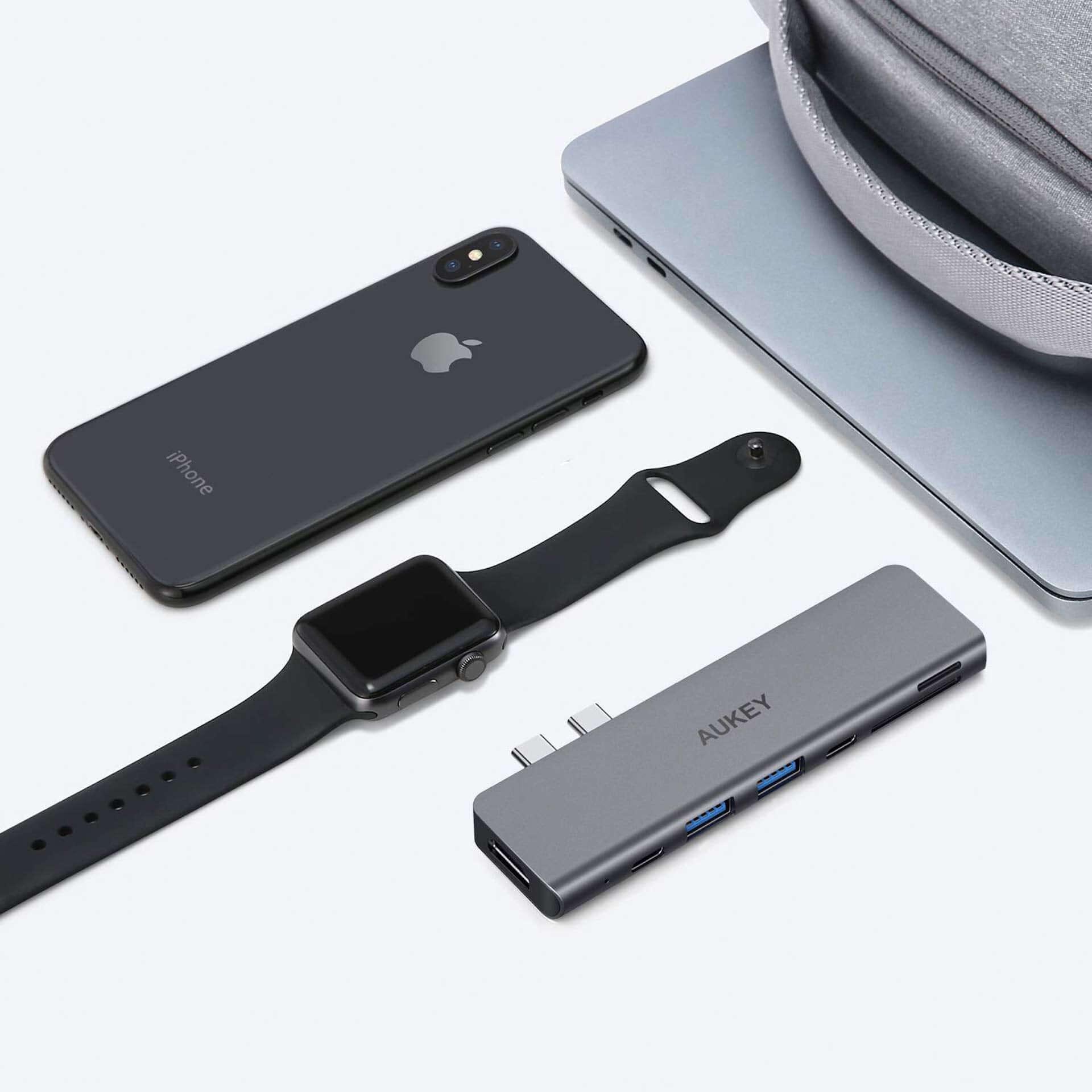 USB 3.0ポート×2、HDMI&SDなど7つのポートが1つに!AUKEYマルチハブがお手頃価格で登場 tech190823aukey-multihub_4-1920x1920
