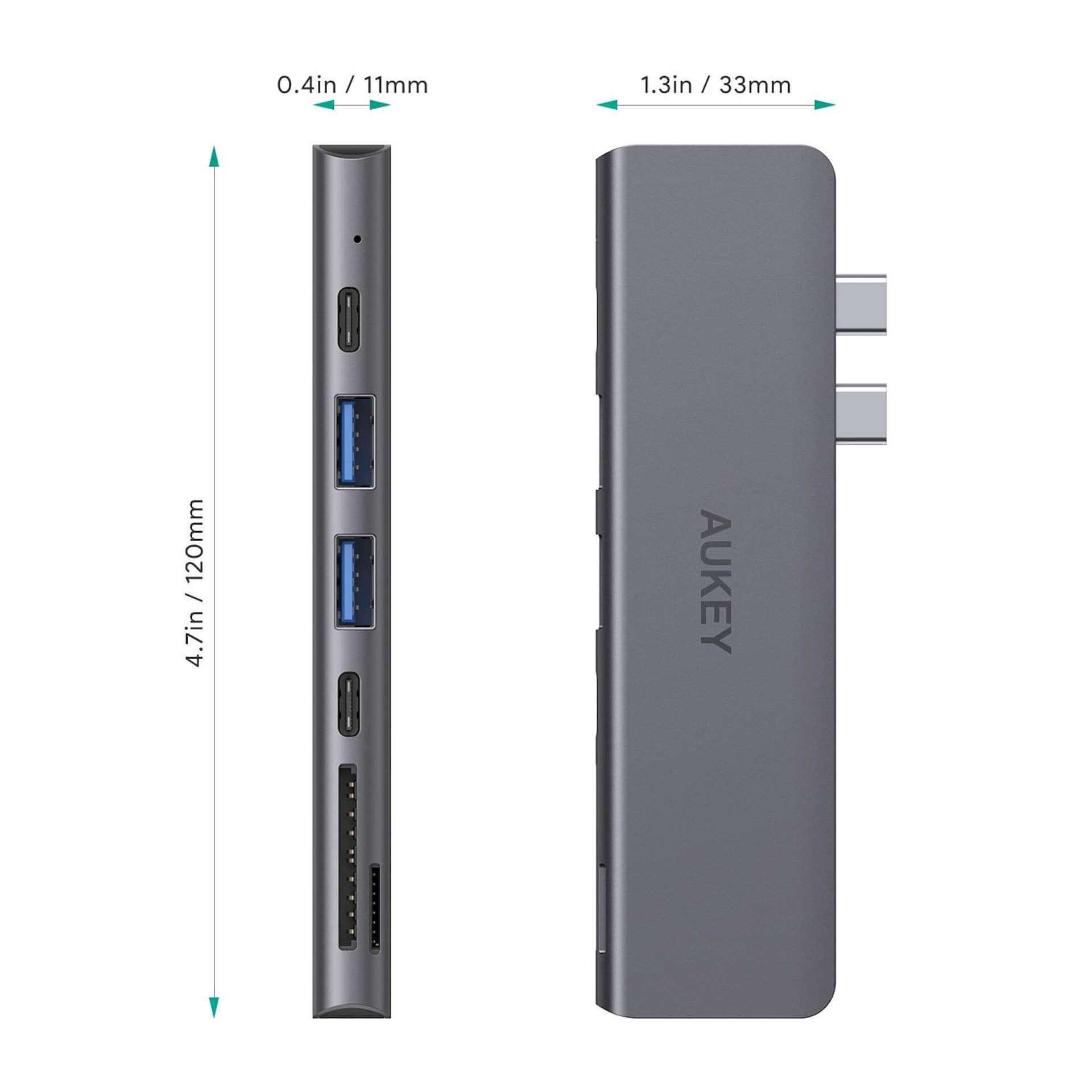 USB 3.0ポート×2、HDMI&SDなど7つのポートが1つに!AUKEYマルチハブがお手頃価格で登場 tech190823aukey-multihub_5-1920x1920