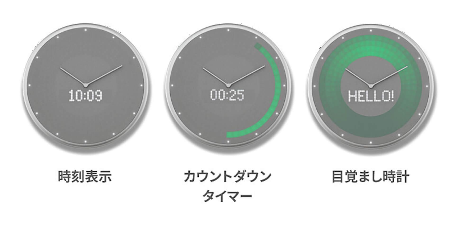 Google・Apple同期でスケジュール管理|忙しい日常をサポートするIoT掛け時計「Glance Clock」が登場 tech190904glanceclock_5