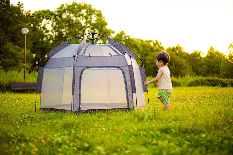 公園やピクニックで活躍!2秒で完成するマジックテントが東京ギフトショーで注目を集める sub1-1-1440x959