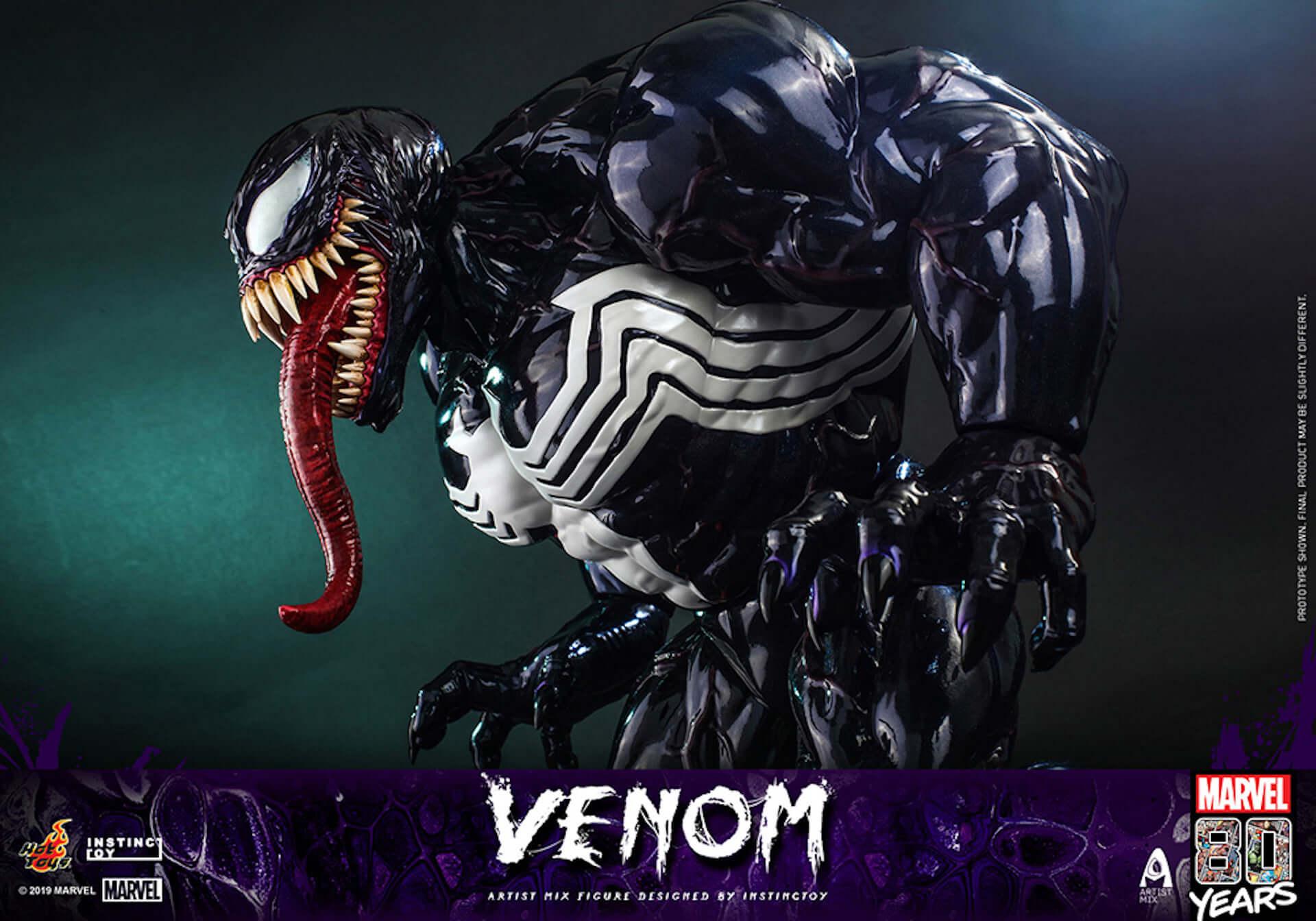 キモカッコいいマーベル・コミックのキャラクター「ヴェノム」の超リアルなフィギュアが登場! art190909_venom_hottoys_6-1920x1344