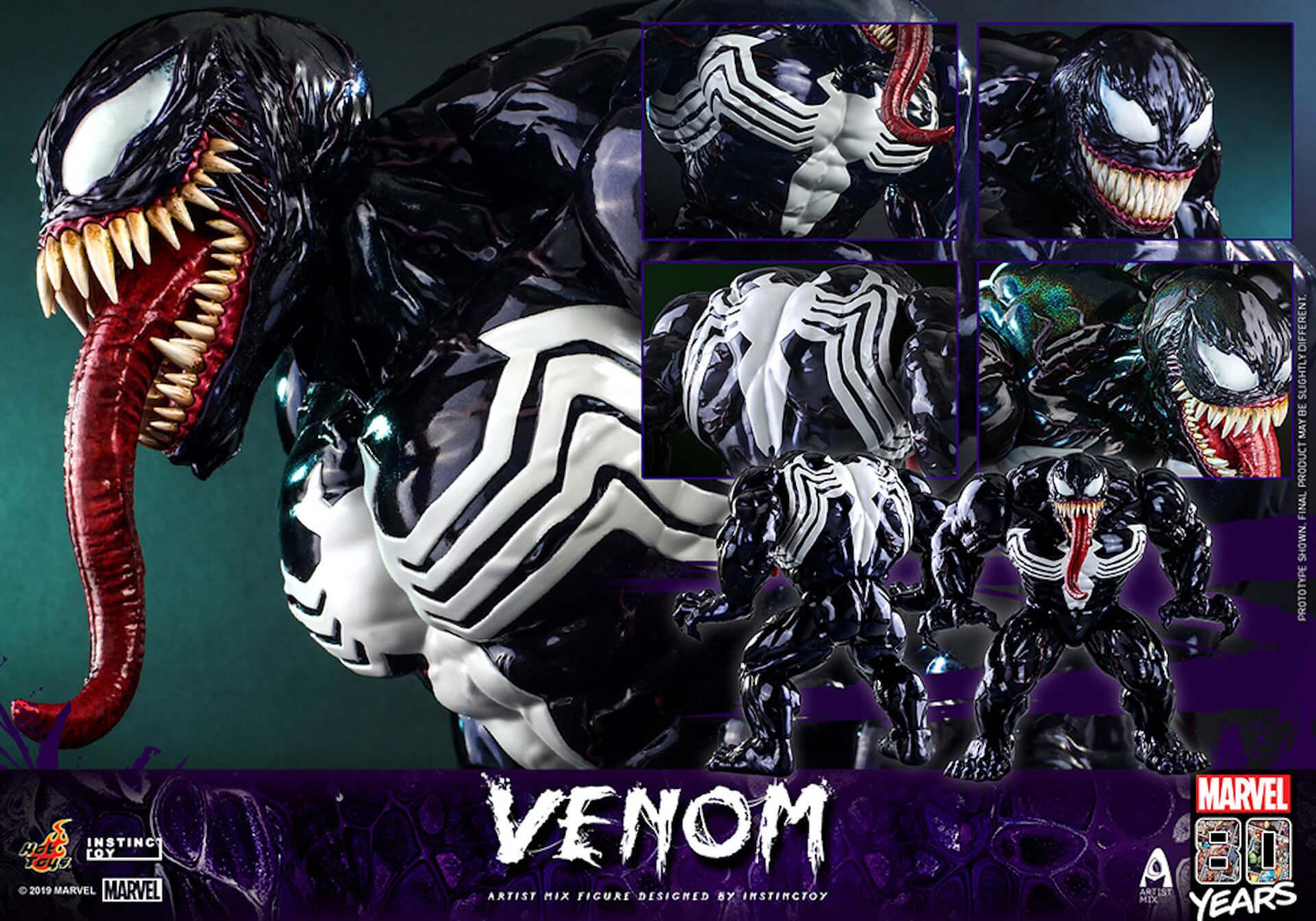 キモカッコいいマーベル・コミックのキャラクター「ヴェノム」の超リアルなフィギュアが登場! art190909_venom_hottoys_1-1920x1344