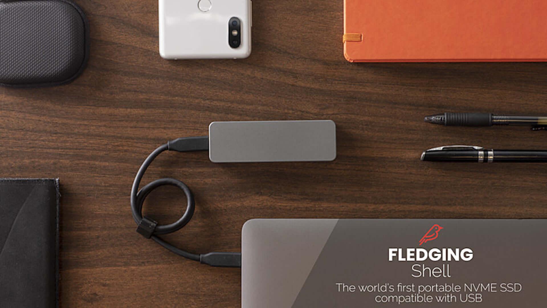 USBポートのあるすべての端末と接続可能!世界最速の外部ストレージデバイス「FLEDGING SHELL」がGLOTUREに登場 tech190910_fledgingshell_4-1920x1080