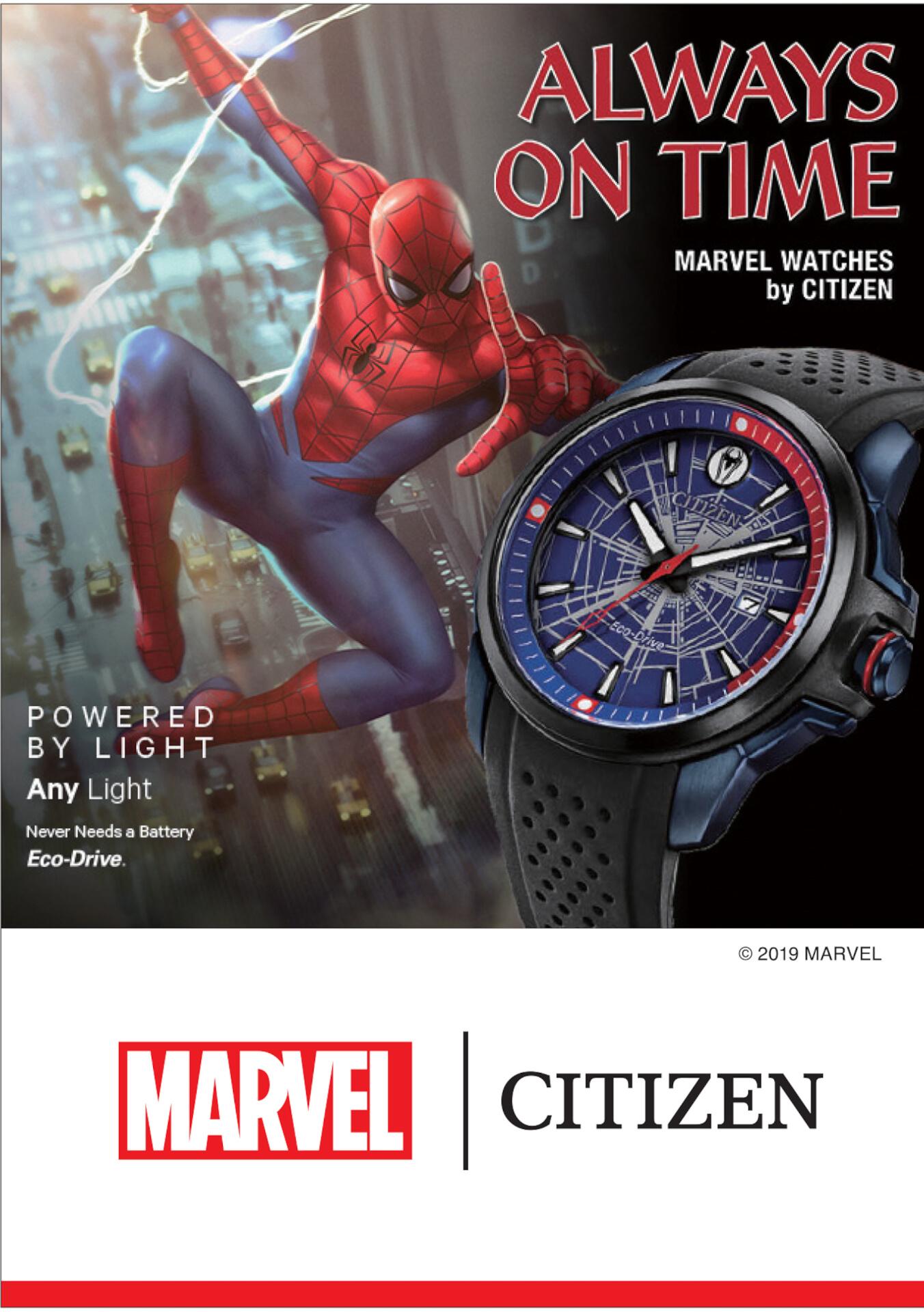 「スパイダーマン」や「キャプテン・アメリカ」が腕時計に!マーベルキャラクターをモチーフにしたシチズン腕時計全9モデルが登場 tech190919_marvel_watch_18