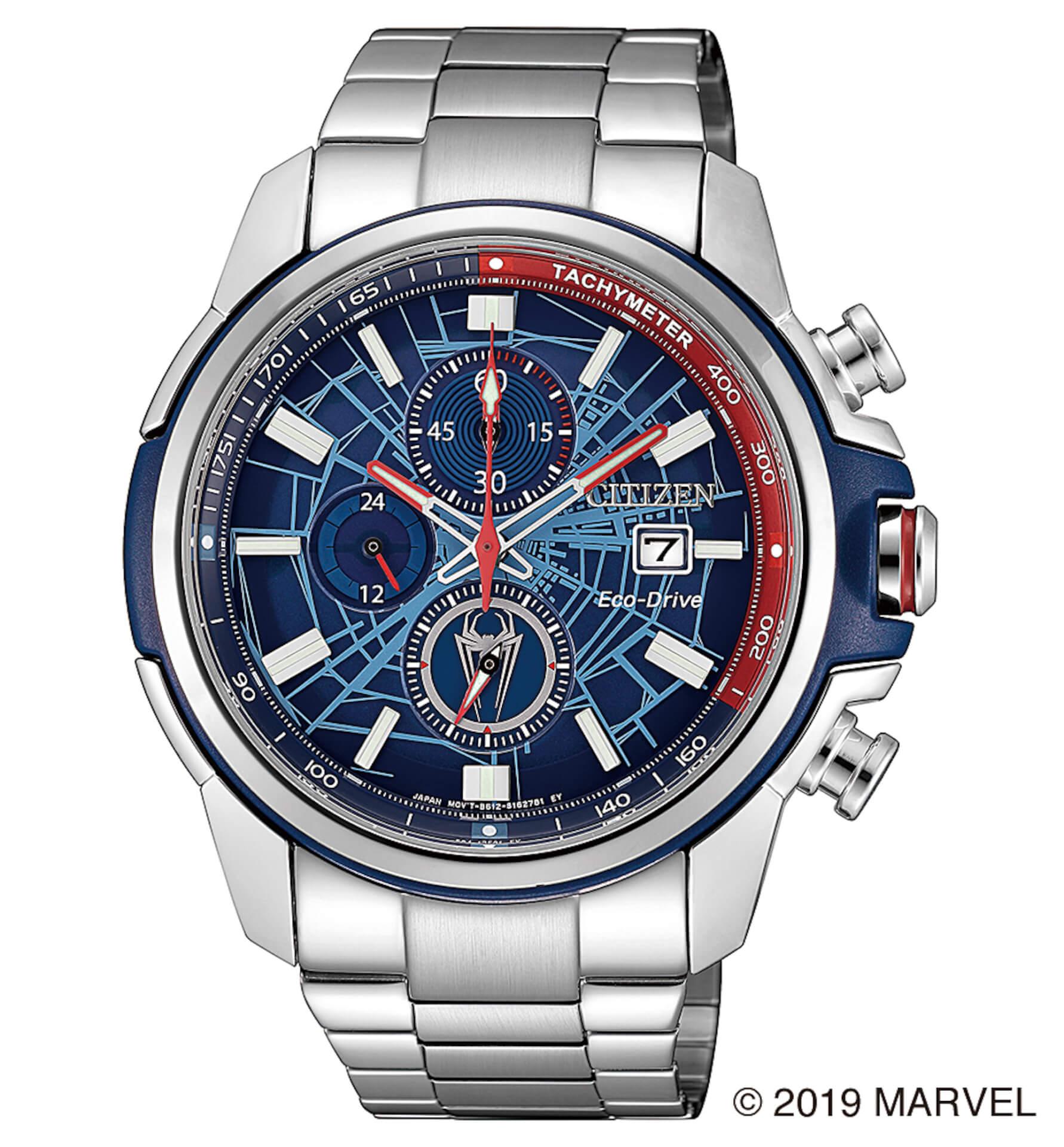 「スパイダーマン」や「キャプテン・アメリカ」が腕時計に!マーベルキャラクターをモチーフにしたシチズン腕時計全9モデルが登場 tech190919_marvel_watch_12